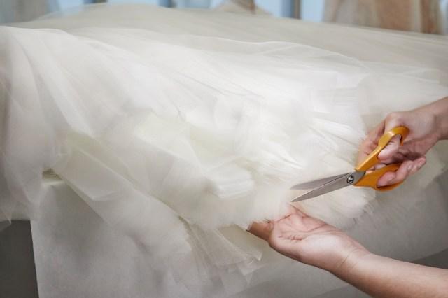 The making of Maria Bakalova's Louis Vuitton Oscars gown.