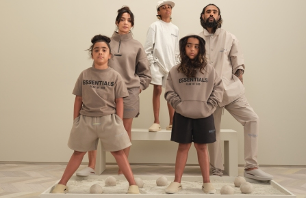 The kids and adult Fear of God Essentials line.