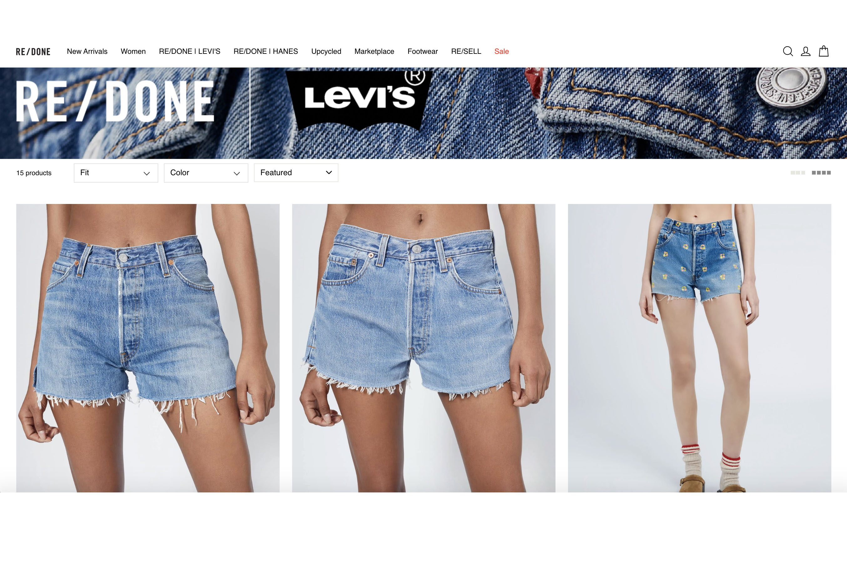 Levi's works closely with Re/Done to give its pieces a second life.