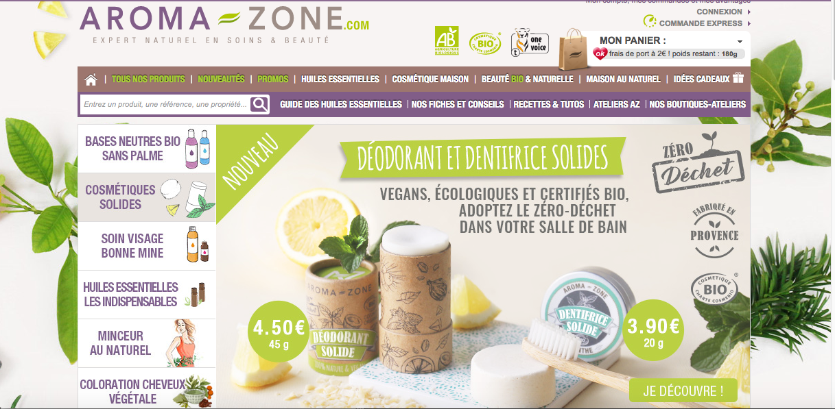 The Aroma-Zone site