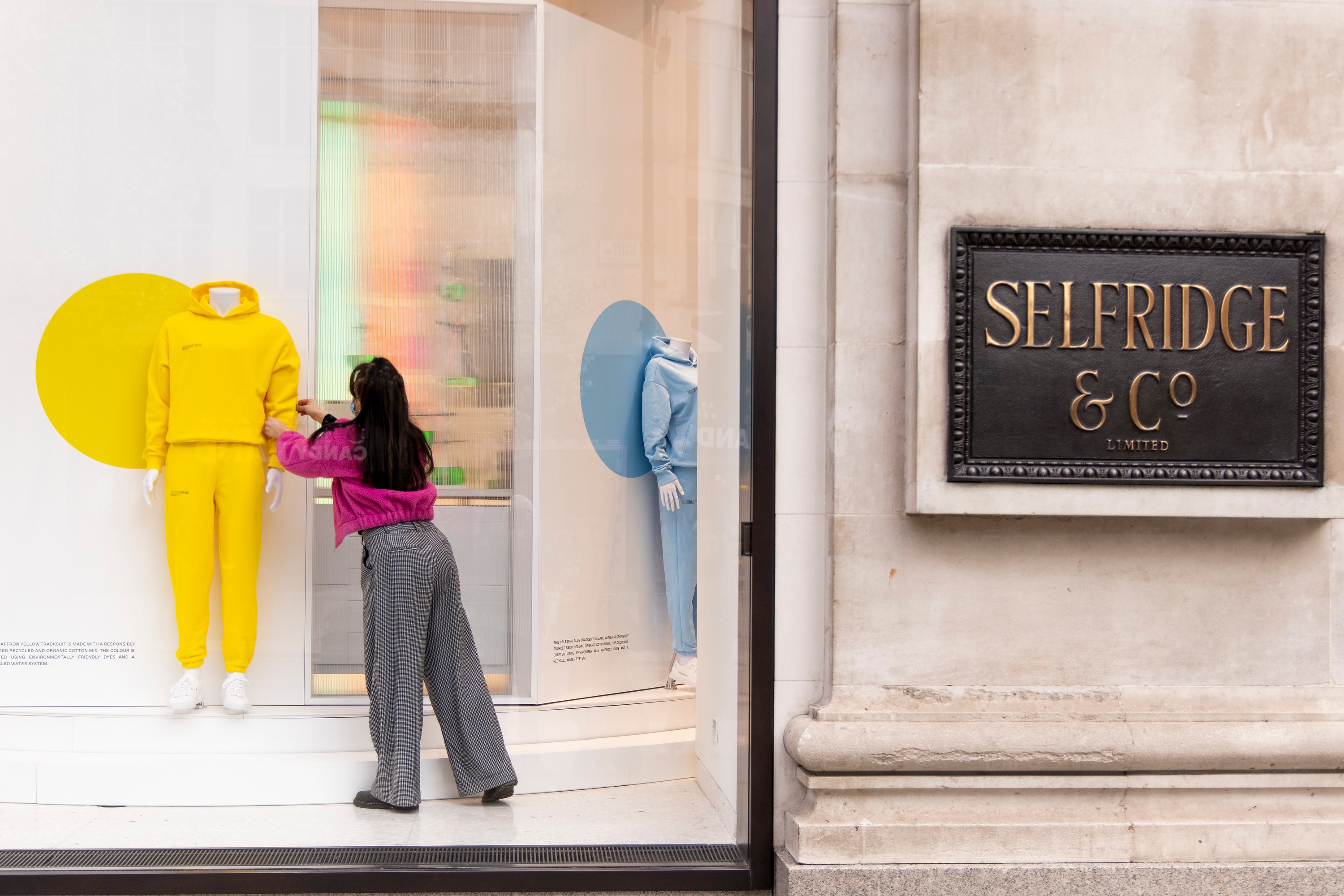 Selfridges unveils its new windows, inspired by the pleasure and optimism found in nature, ahead of store reopening on April 12.