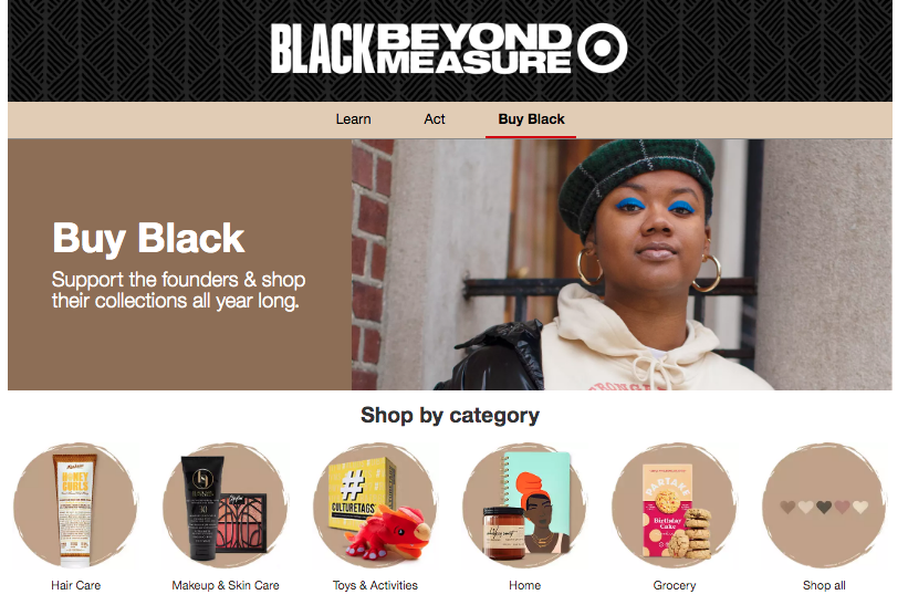 Target Black-owned businesses