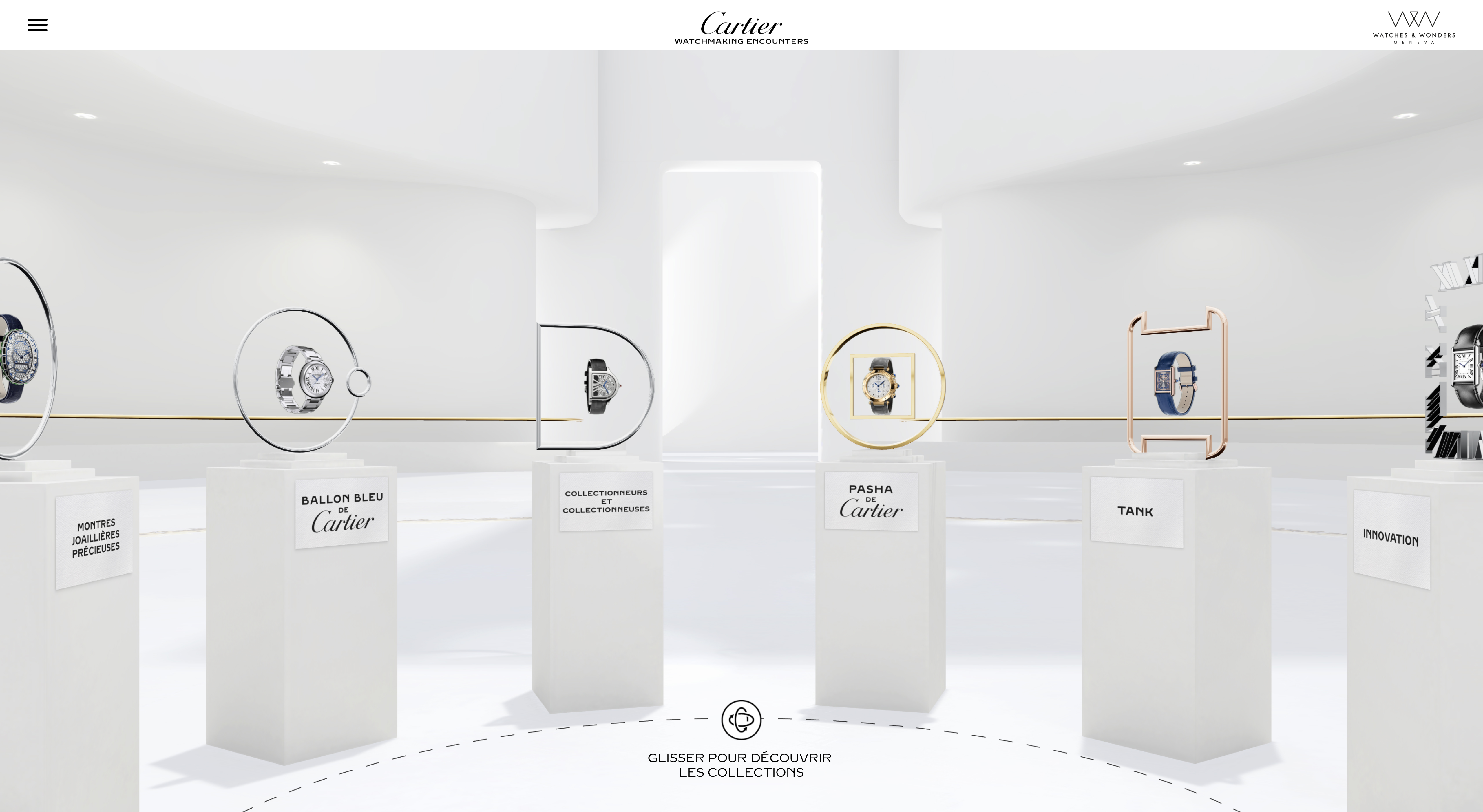 Cartier's Watch Encounters site