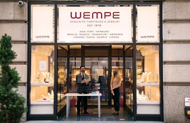 Wempe's COVID precautions at its Fifth Ave. store.