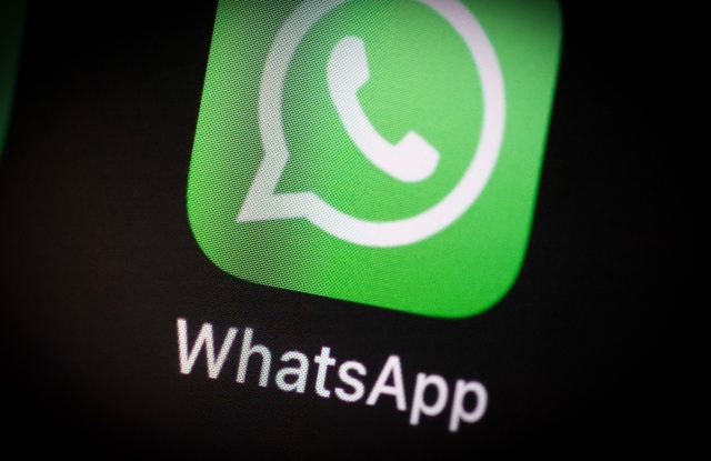 The WhatsApp application icon is seen on an iPhone home screen in Warsaw, Poland on March 3, 2021. (Photo by Jaap Arriens / Sipa USA)(Sipa via AP Images)