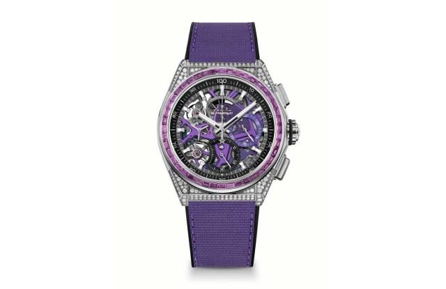 Zenith Defy Spectrum watch in purple