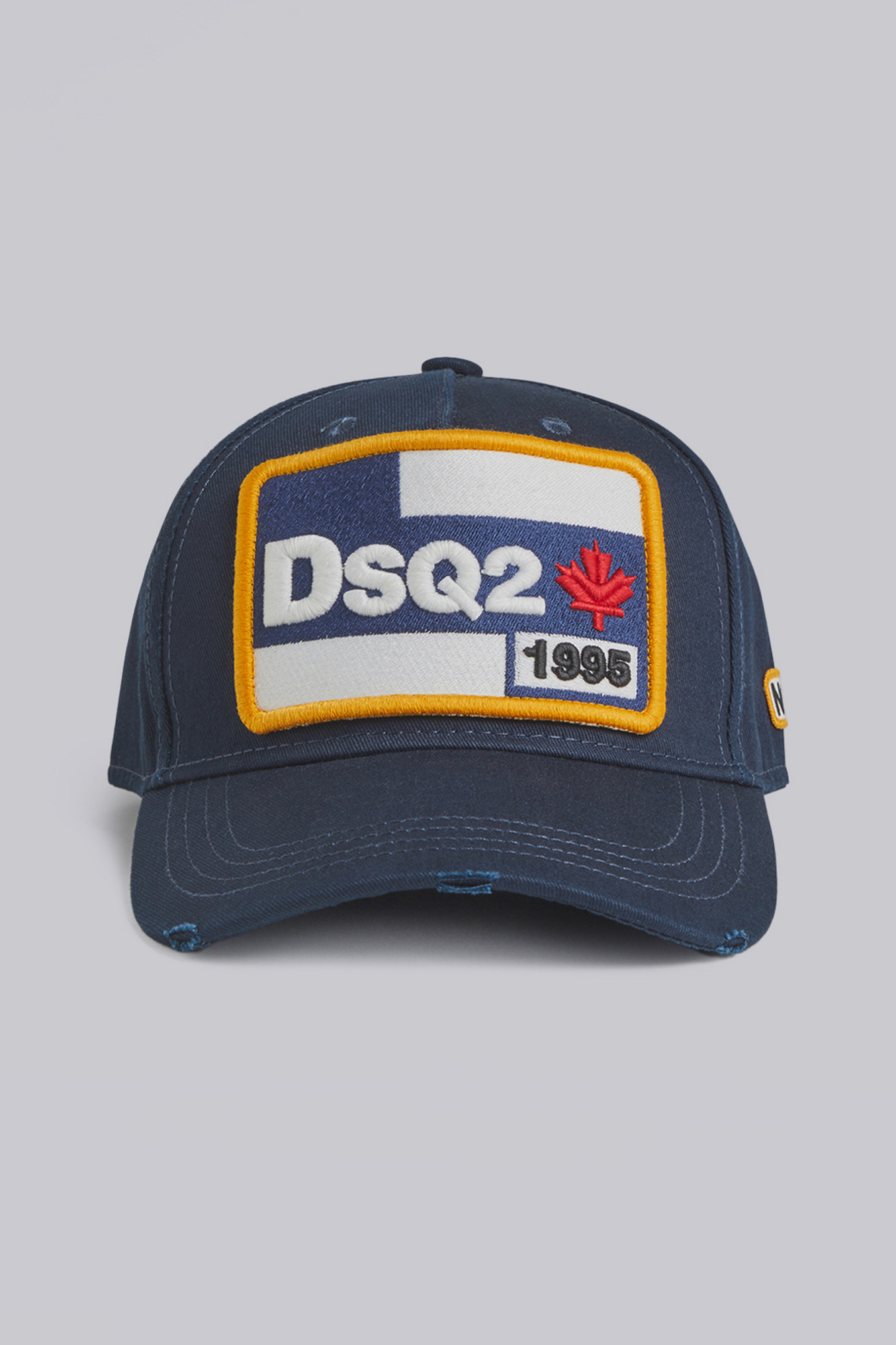 Dsquared2's cotton twill cap in navy.