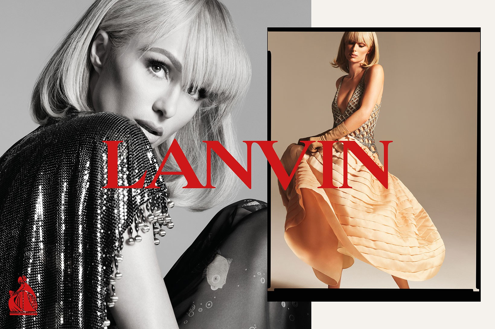 Paris Hilton starring in Lavin spring 2021 campaign. Fosun is the owner of Lanvin.