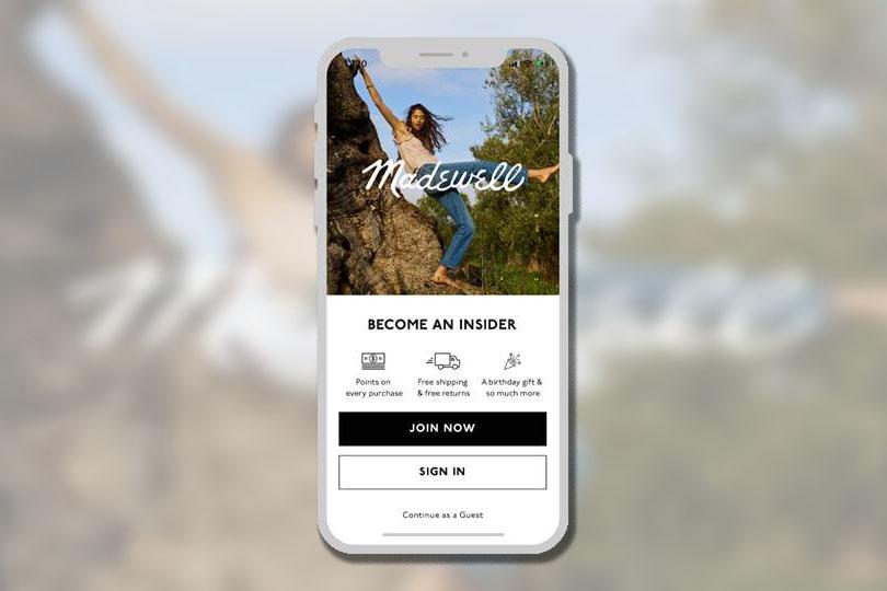The Madewell app.