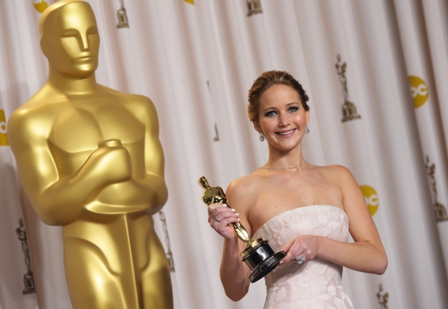 Jennifer Lawrence at the 2013 Oscars.