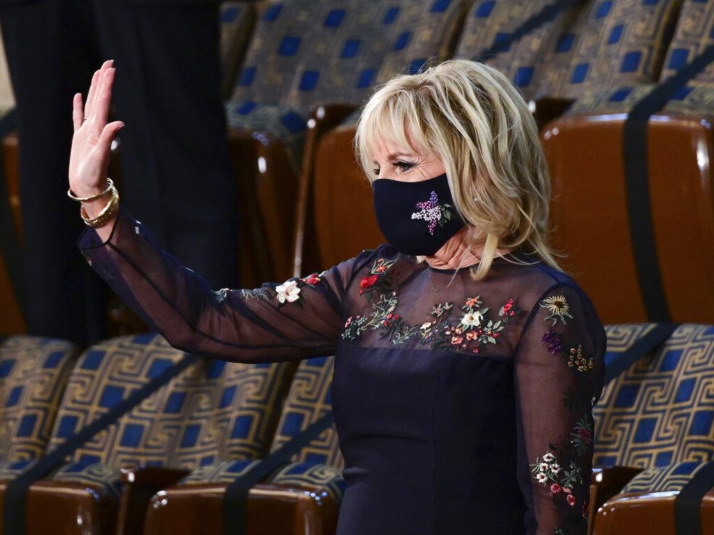 Biden 100 Days Congress First lady Jill Biden wearing Gabriela Hearst