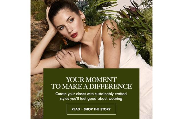 Neiman's advocates sustainable fashion on its website.