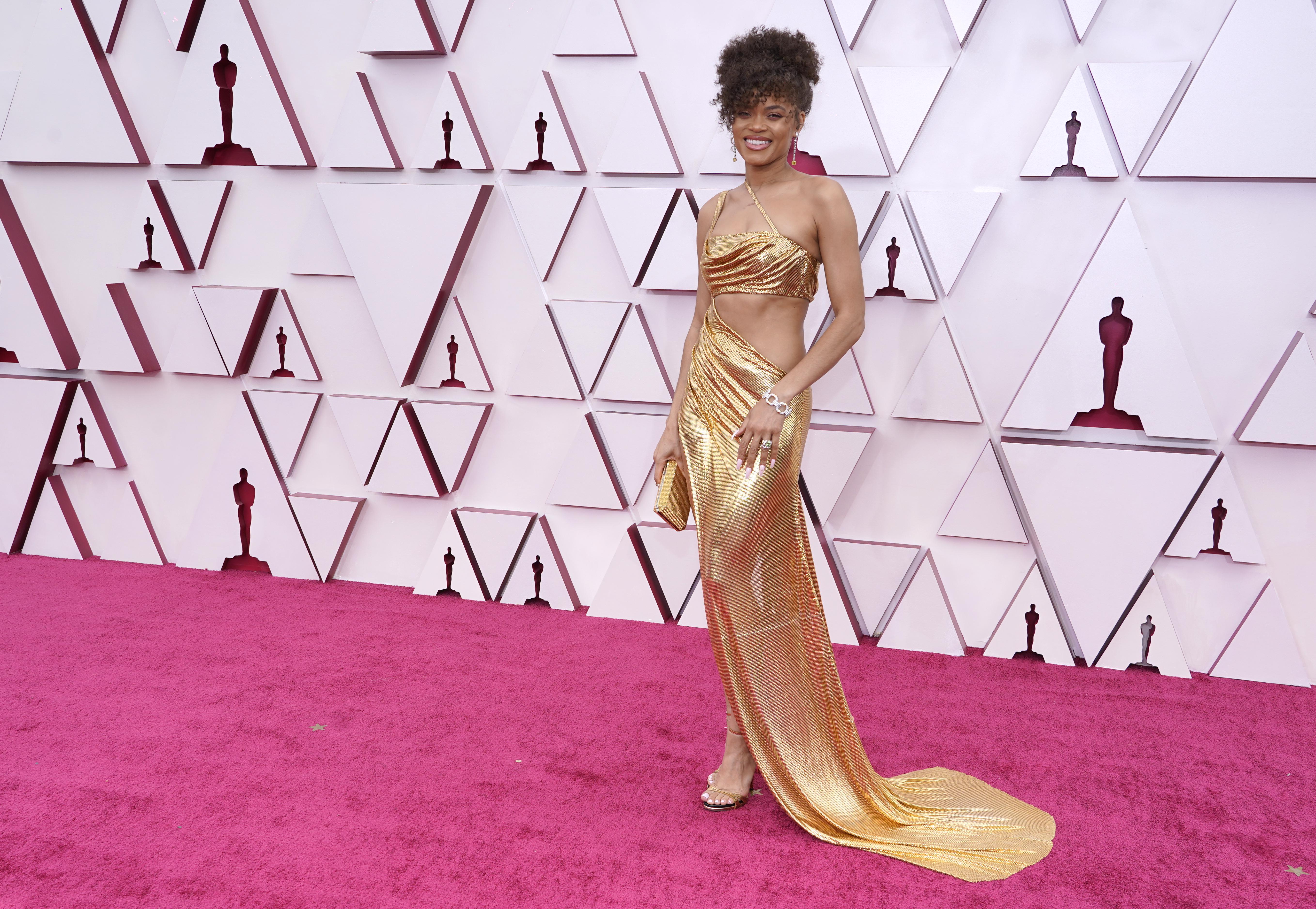 2021 Oscars: Andra Day in Vera Wang