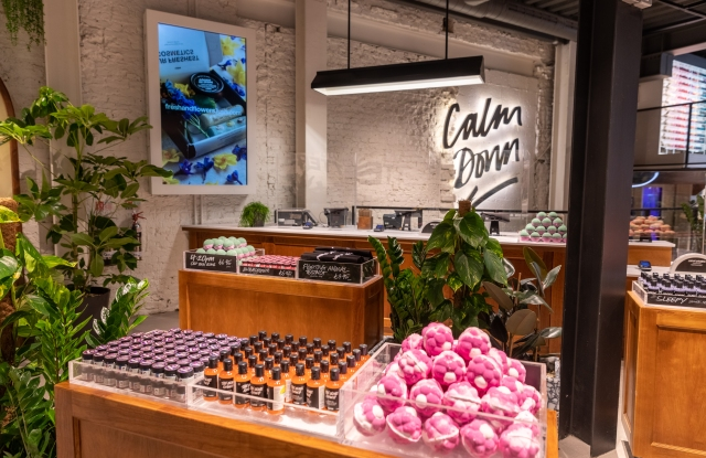 Lush's newly-refurbished Oxford Street store in London.