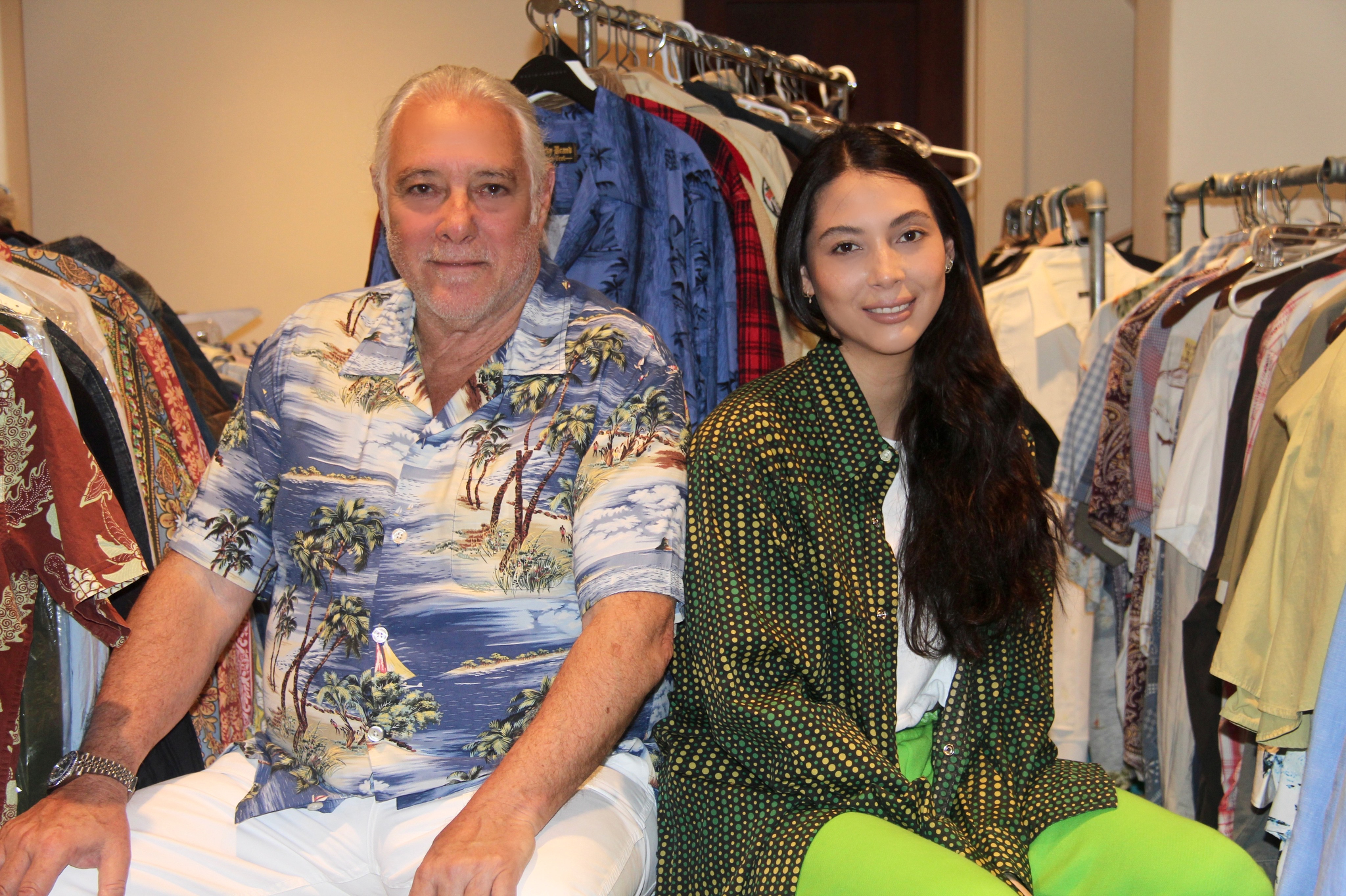 All in the family: Gene Montesano, Southern California restauranteur, Lucky Brand Jeans founder and Civilinaire co-founder, with daughter Siena Montesano, who was inspired by him to launch the brand Dad's Closet. Credit: Courtesy.