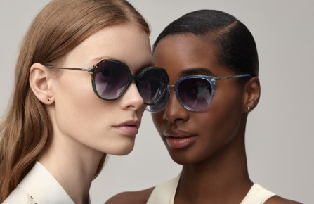Anne Klein sunglasses featured in the company's new glossy catalogue.