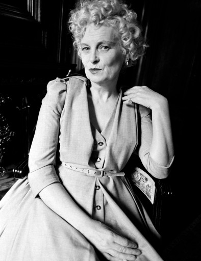 Designer Vivienne Westwood poses for portraits on September 16, 1996.