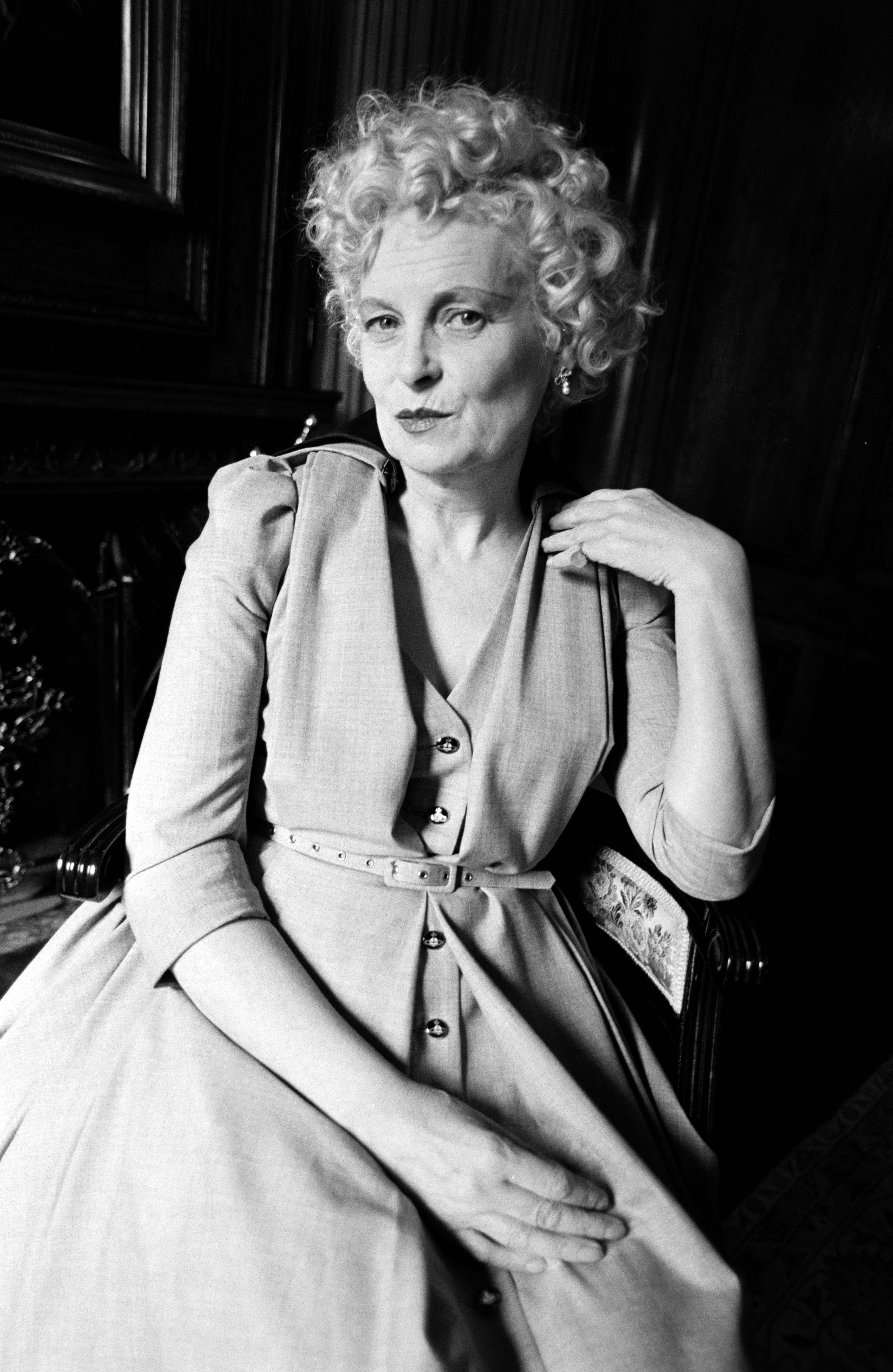 Designer Vivienne Westwood poses for portraits on September 16, 1996.