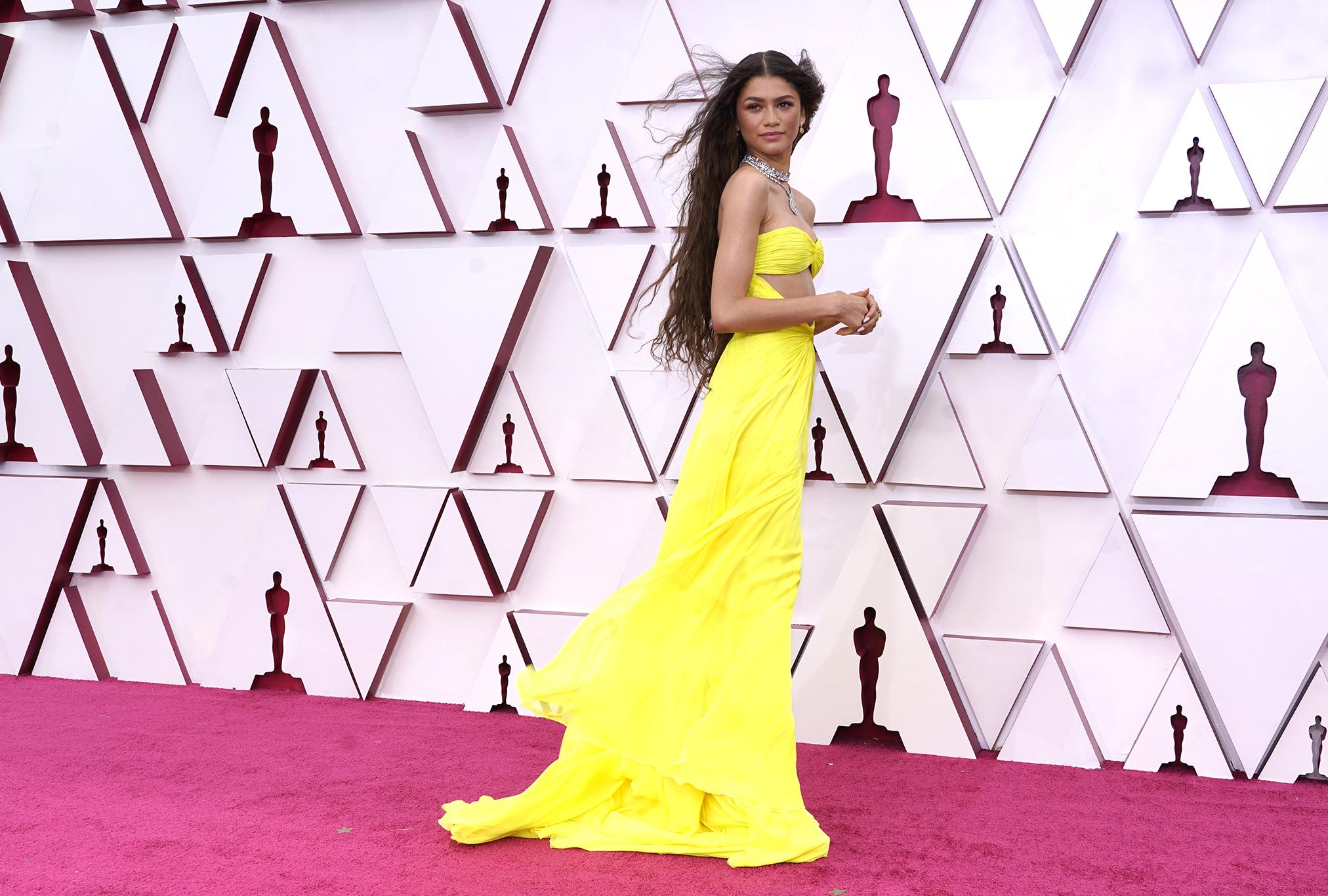 Zendaya on the Oscars 2021 Red Carpet