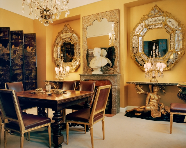 The dining room at Gabrielle Chanel's apartment on 31, rue Cambon in Paris.