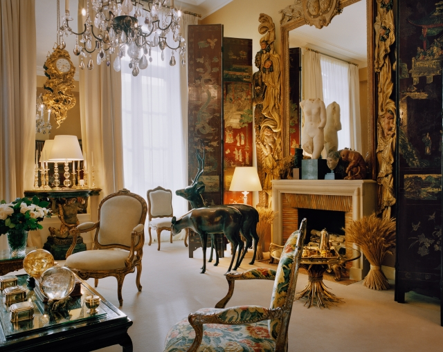 The salon at Gabrielle Chanel's apartment on 31, rue Cambon in Paris.