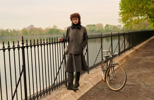 Ella Emhoff in Jil Sander, for Bergdorf Goodman's pre-fall campaign.