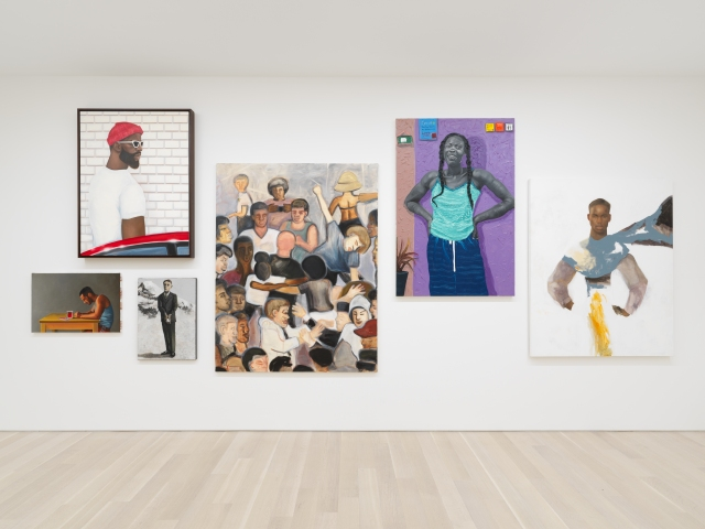 "Installation view of ""Salon de Peinture."""