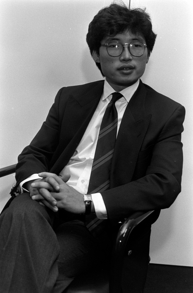 David Chu, founder of Nautica brands in New York on August 25, 1987.