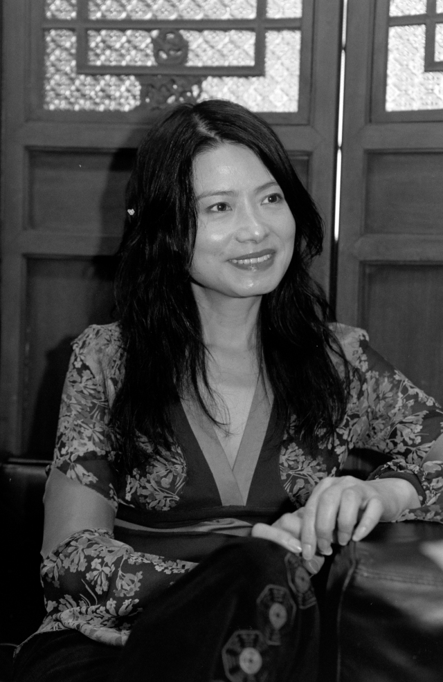 Designer Vivienne Tam in her New York showroom on October 29, 2002.