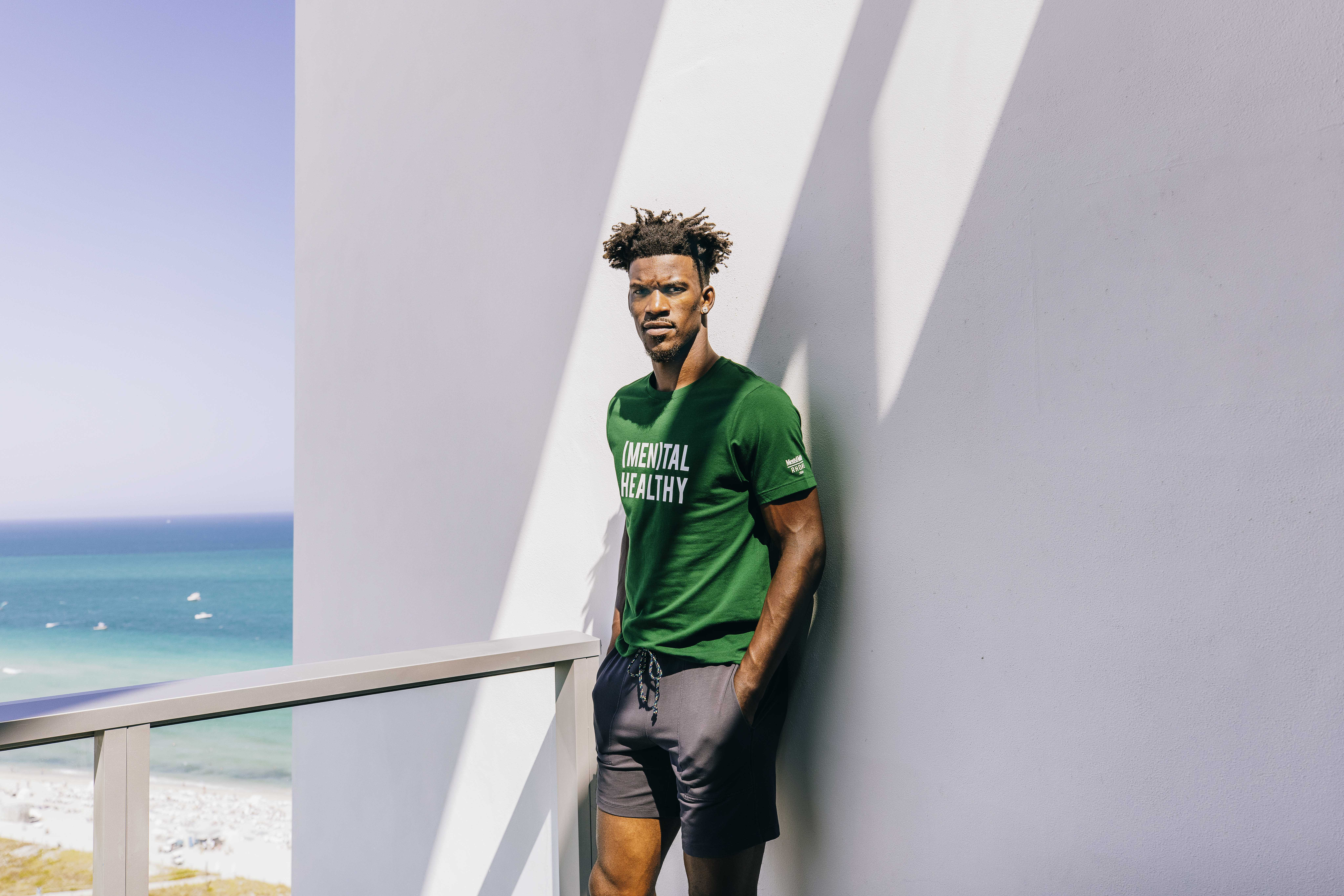 Rhone investor Jimmy Butler in the mental health T-shirt.