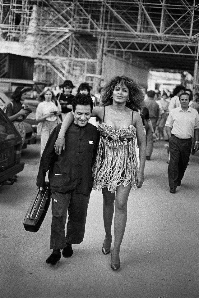 Azzedine Ala ؟؟ a & Tina Turner ، پاریس ، 1989