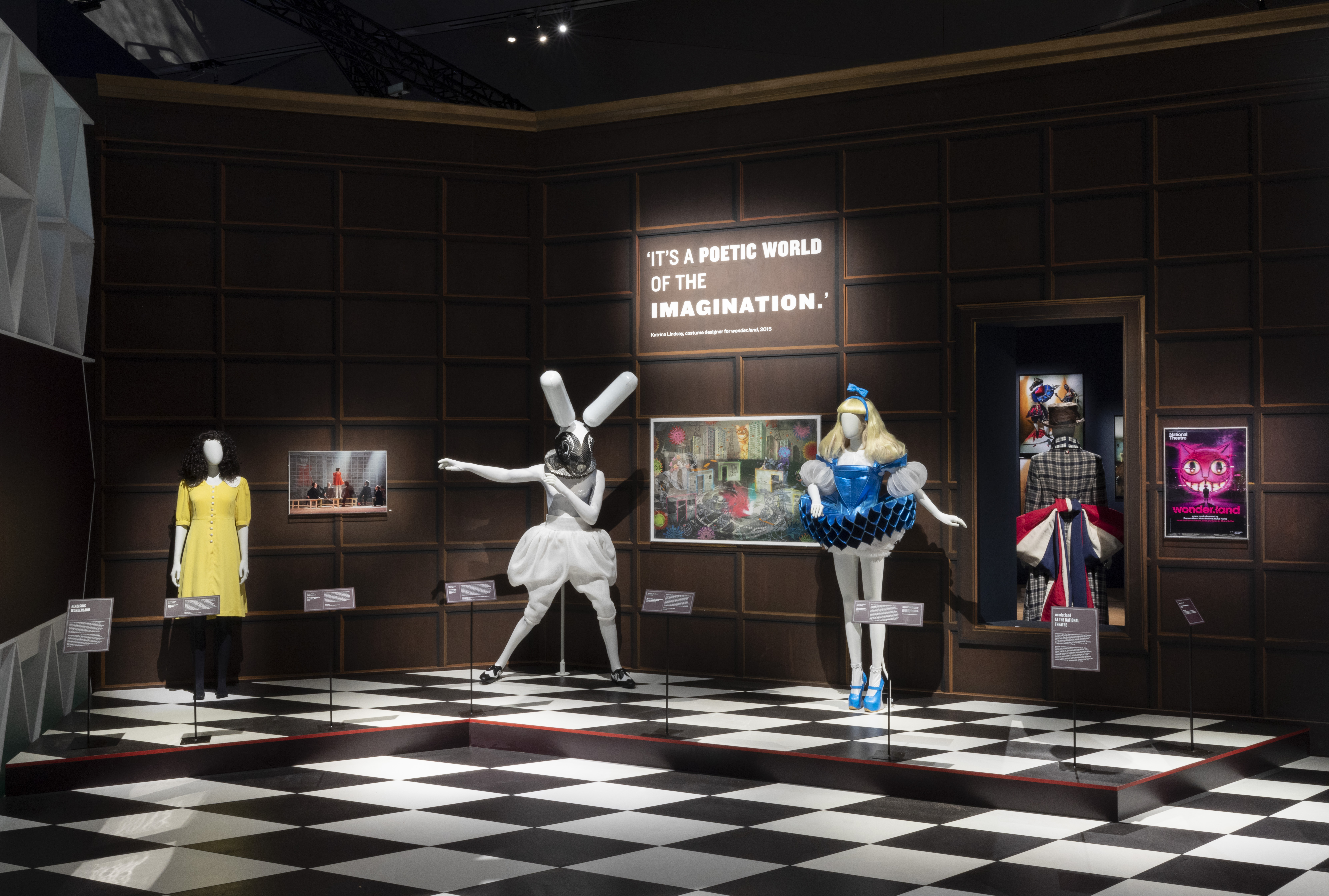 """Fashion on display at """"Alice: Curiouser and Curiouser"""" at the Victoria & Albert Museum"""