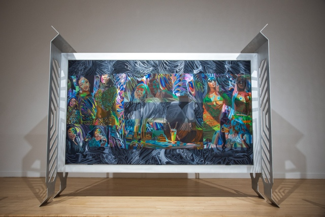 """Installation view of Caitlin Cherry's """"Green Tetra."""""""