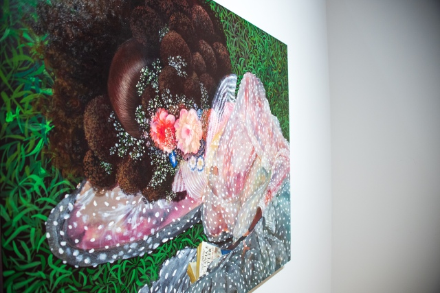 """Installation view of Firelei Baez's """"On rest and resistance, Because we love you (to all those stolen from among us)."""""""