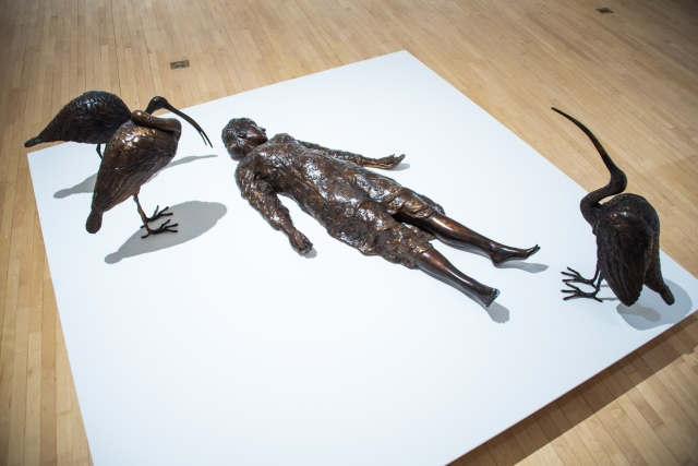 """Installation view of Maria Berrio's """"The Petition."""""""