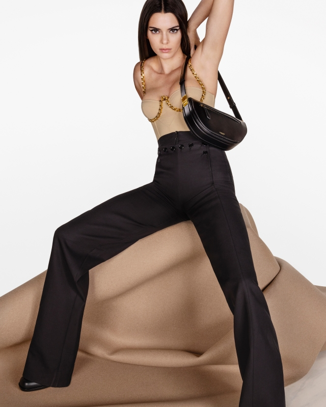 Kendall Jenner stars in the Burberry Olympia bag campaign
