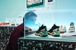A visitor at Sneaker Unboxed Exhibition at London Design Museum