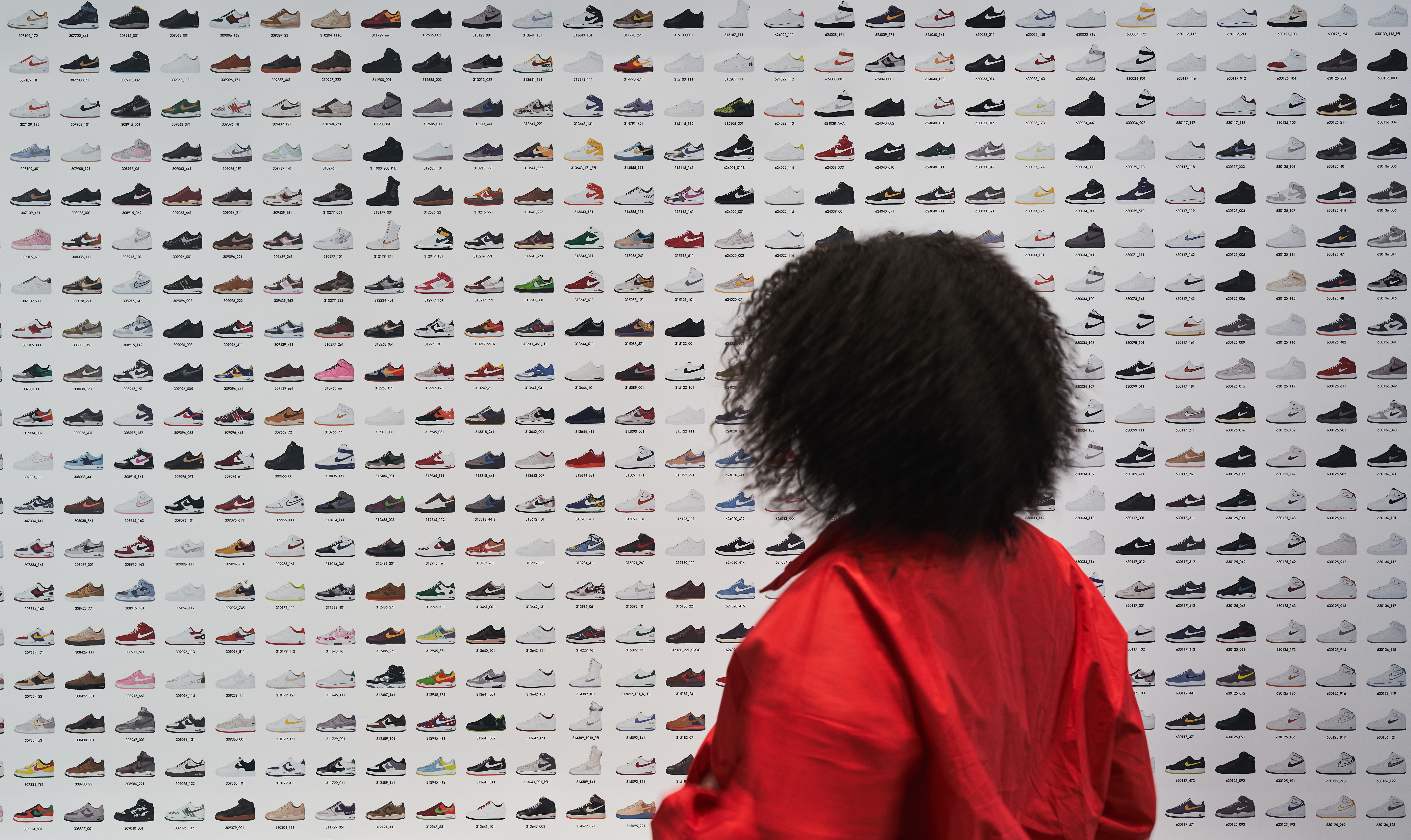 Entrance at the London Design Museum's Sneaker Unboxed exhibition.