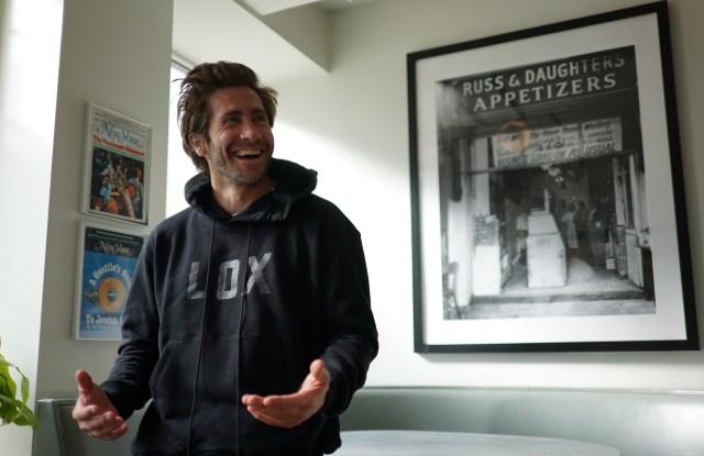 Jake Gyllenhaal in the Lox hoodie.