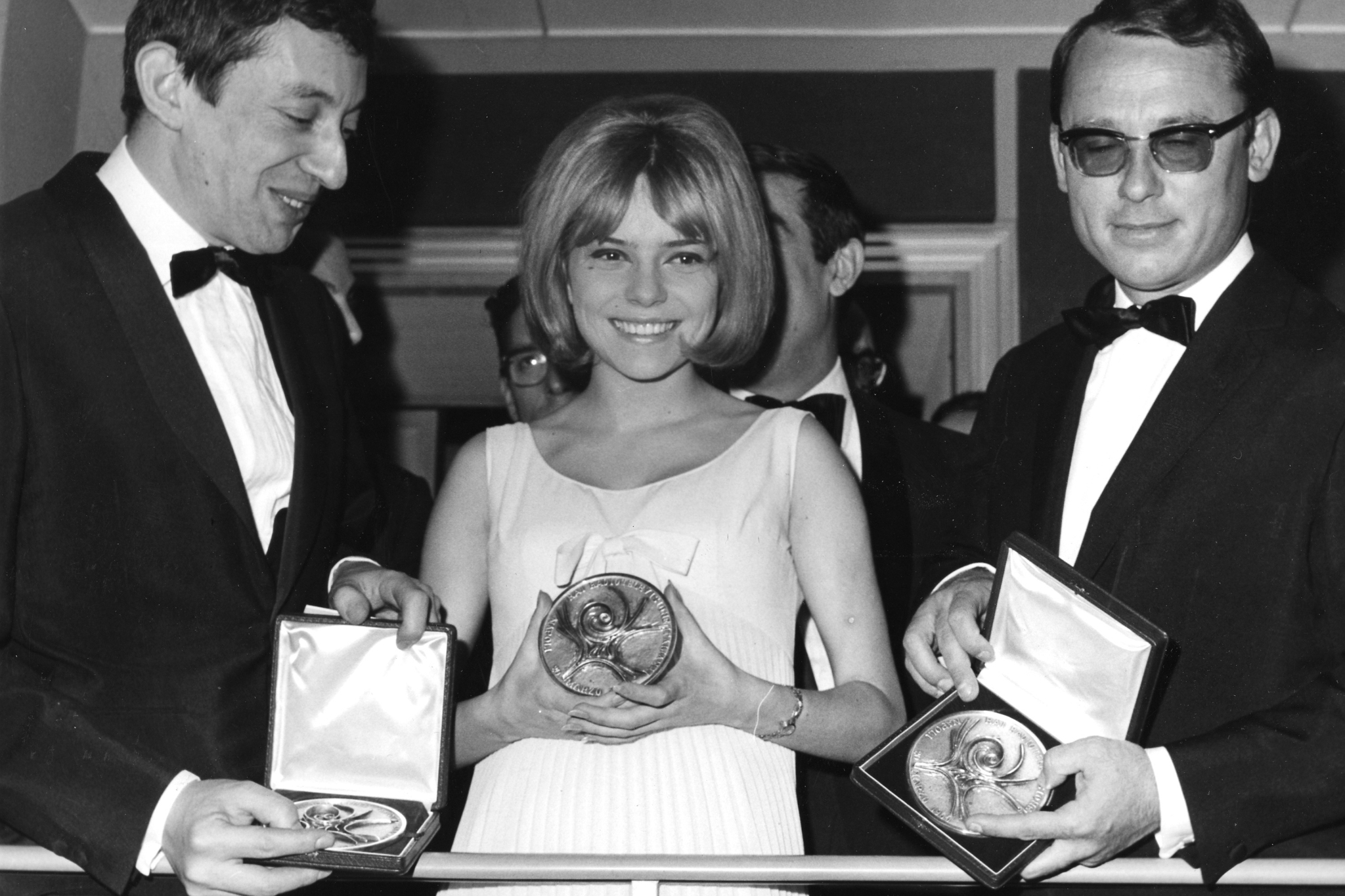 In this March 20, 1965 file photo, Winner, 18-year-old French singer France Gall, singing for Luxembourg in the Eurovision Song Contest.