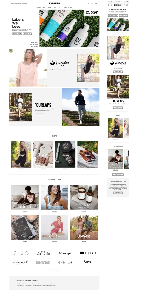 The Express online marketplace.