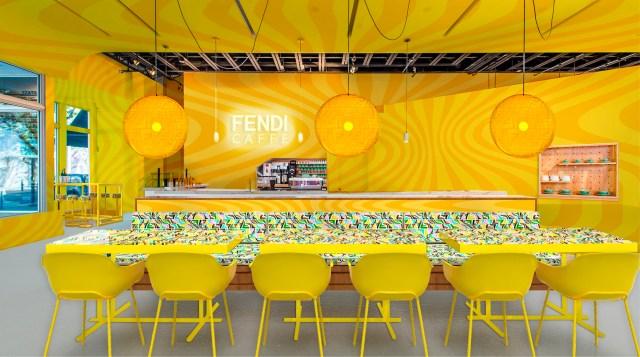 A rendering of the Fendi Caffè at Miami Design District