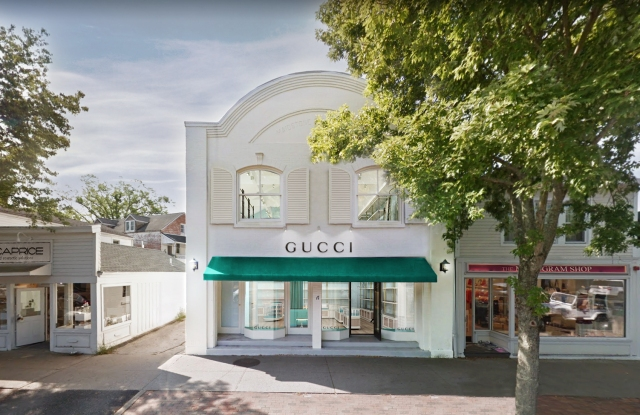 A rendering of Gucci's new permanent location at 17 Newton Lane in East Hampton.