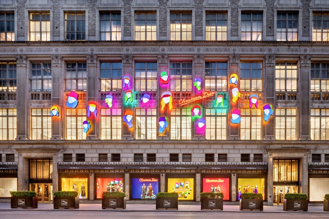 The Saks facade reimagined by Dior.