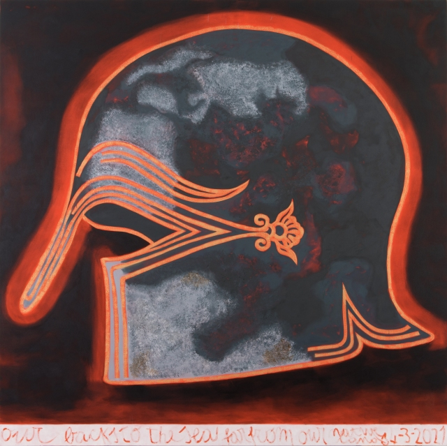 """Francesco Clemente, """"Our Backs to The Sea Far From Our Native Land 4-3-2021"""""""