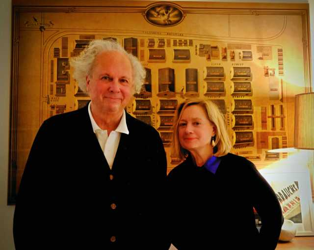 Graydon Carter and Alessandra Stanley