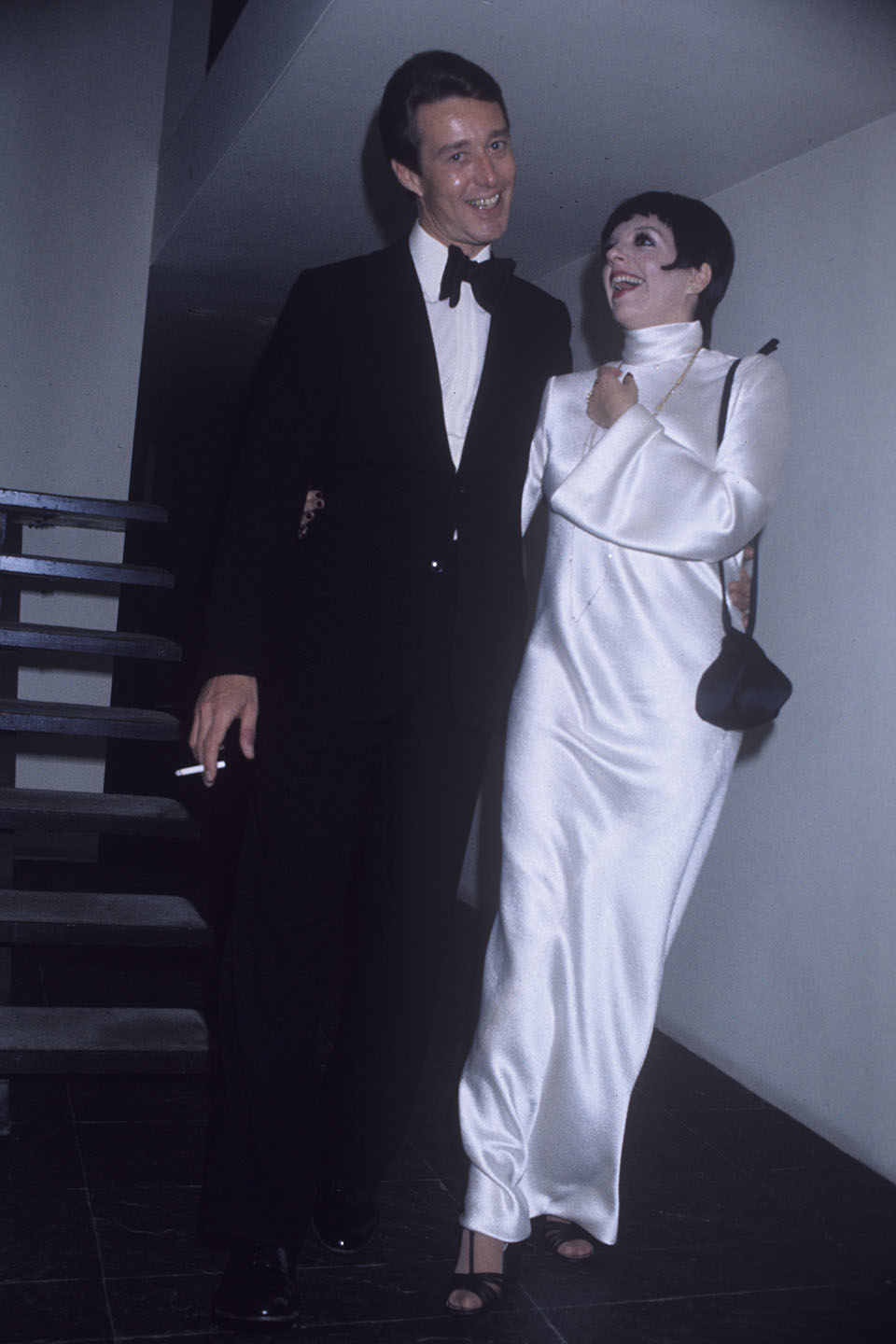 Liza Minnelli celebrates her first wedding anniversary with Roy Halston during a party at Halston's New York home on September 15, 1975.