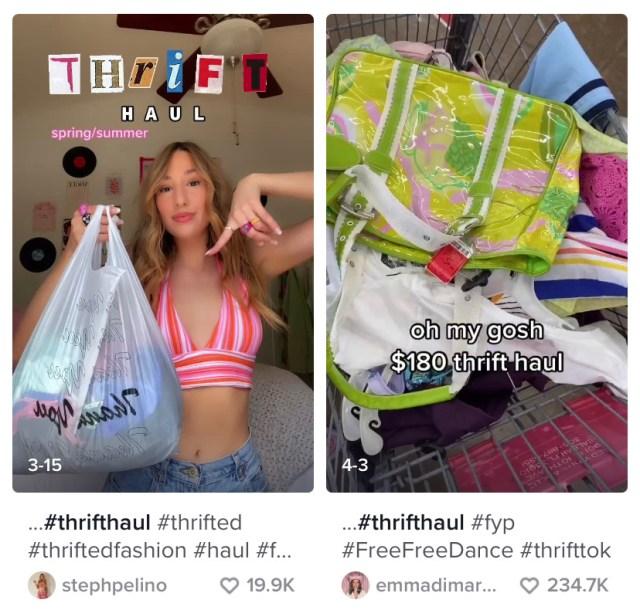 Thrift, haul, thrifting, TikTok, Goodwill, Salvation Army, Resale, Gen Z