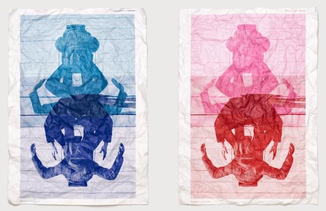 Tyvek sheet posters of Craig Green x Jack Davison photography