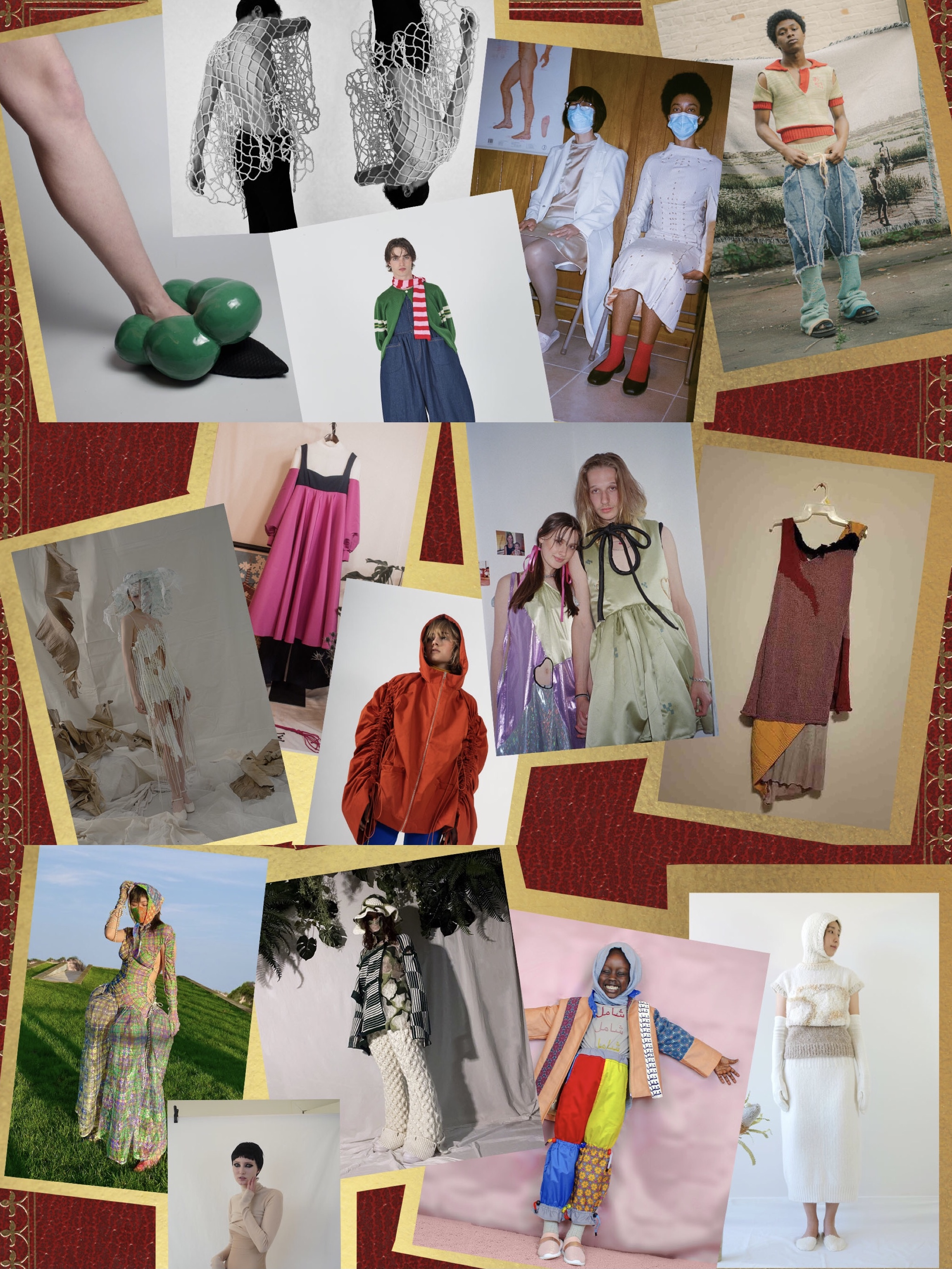 Thesis designs from the fashion design class of 2021.